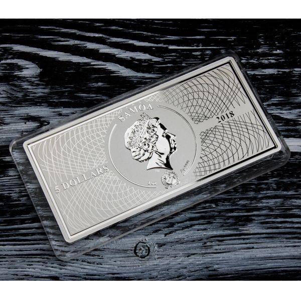 Fermi Gamma Ray Shades of Space 1 oz Proof-like Silver Coin 5$ Samoa 2018
