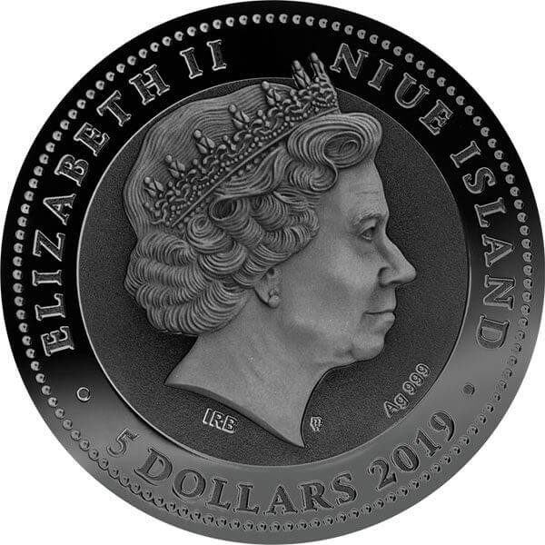 Mask of Plague Doctor 2 oz Antique finish Silver Coin 5$ Niue 2019