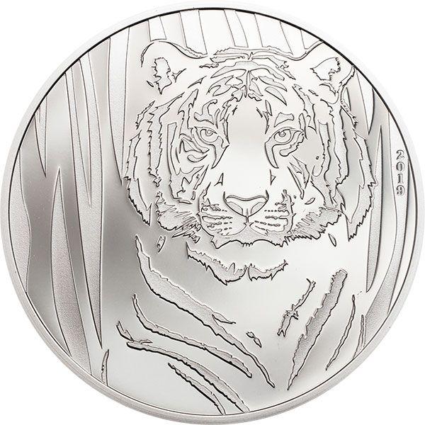 Hidden Tiger 1/2 oz Proof  Silver Coin 250 togrog Mongolia 2019