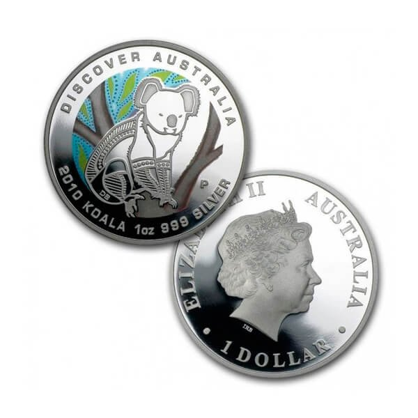 Discover Australia - Koala Colored Proof Silver Coin 1$ Australia 2010