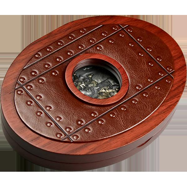 Noah's Ark 5 oz Antique Finish Silver Coin 10$ Tokelau 2021