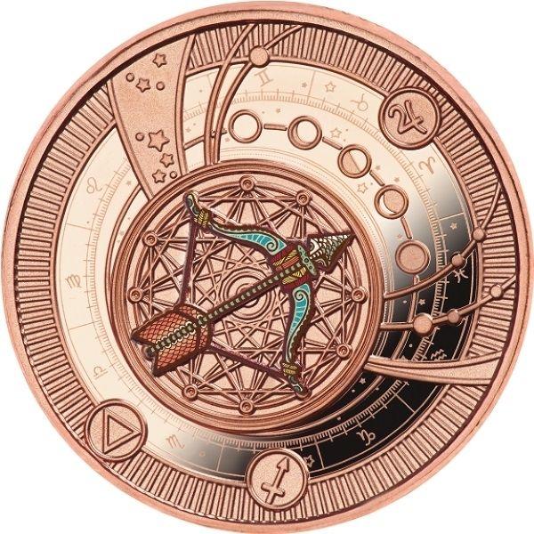 Sagittarius Zodiac Signs Proof Silver Coin 500 Francs CFA Cameroon 2021