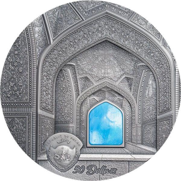 Isfahan Tiffany Art 1 kilo Antique finish Silver Coin 50$ Palau 2020