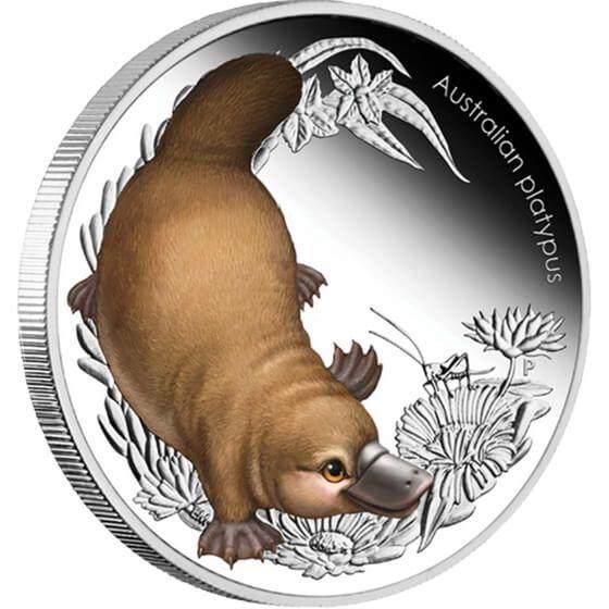 Australia 2013 50 cents Platypus Australian Bush Babies II 1/2oz Proof Silver Coin