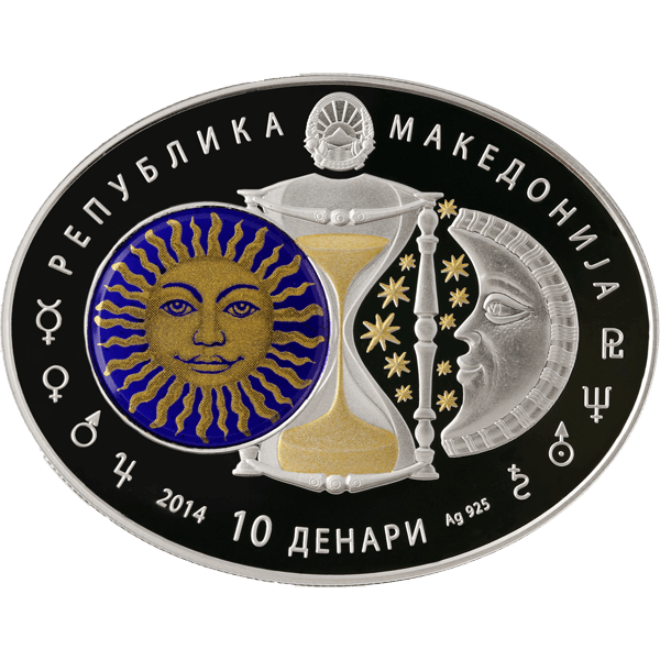 Macedonia 2014 10 Denars Virgo Signs of the Zodiac Proof Silver Coin