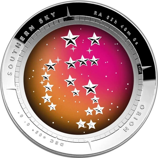 Australia 2014 5$ Color Domed - Orion Southern Sky Proof Silver Coin