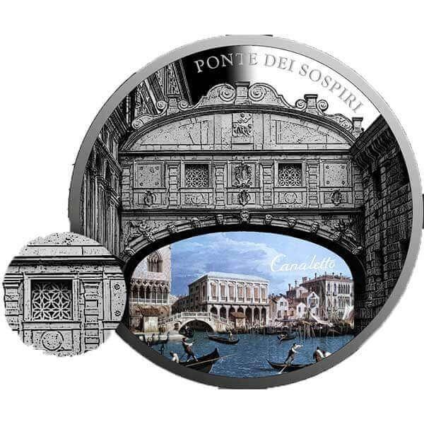 SOS. Venice – End or beginning ?  - Ponte Dei Sospiri  1 oz Proof Silver Coin 2$ Niue 2017
