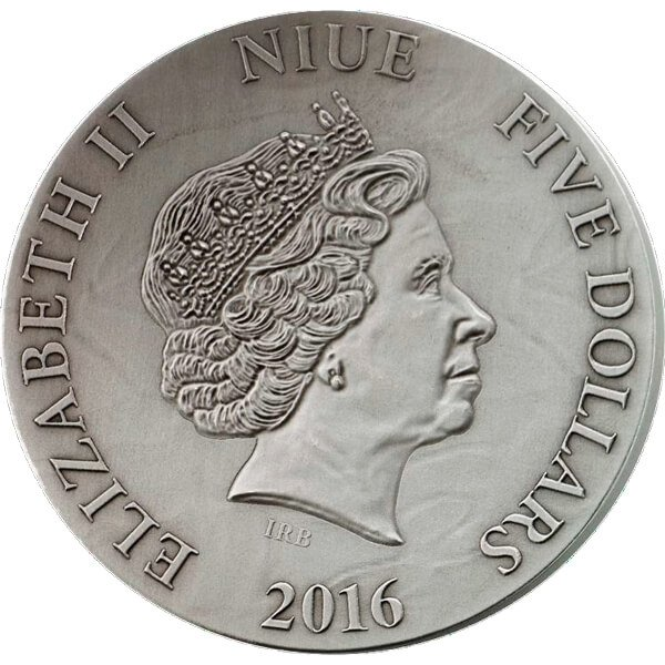 Niue 2016 5$ The Choir of Angels METATRON - The King of Angels 65g Antique finish Silver Coin