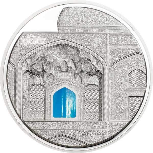Isfahan Tiffany Art 3 oz Proof Silver Coin 20$ Palau 2020