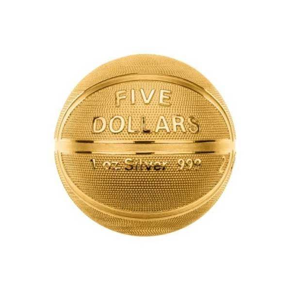 Basketball Spherical 1oz Proof Silver Coin 5$ Samoa 2020