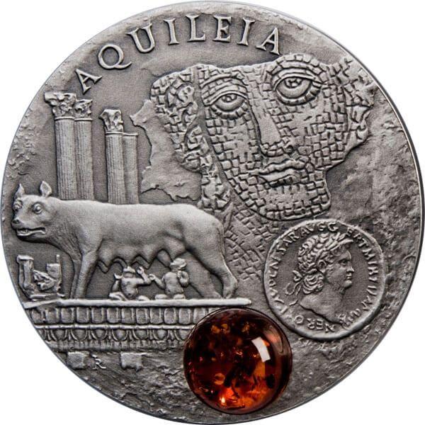 Aquileia Amber Route UNC Silver Coin 1$ Niue 2011
