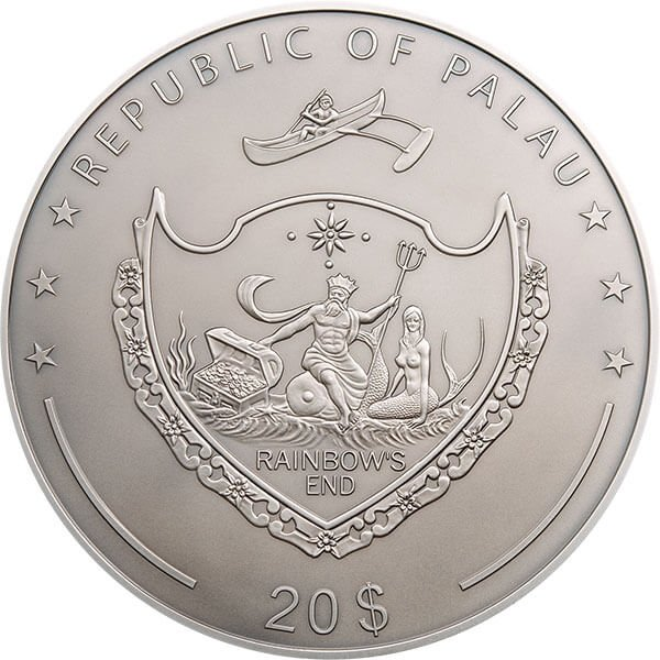 Exotic Butterflies Dream Edition 5 oz Silver Coin 20$ Palau 2018