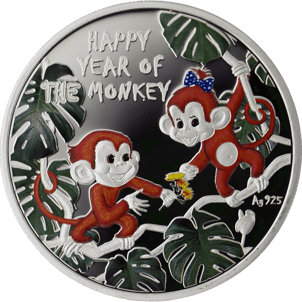 Niue 2016 1$ Happy Year of the Monkey Proof Silver Coin