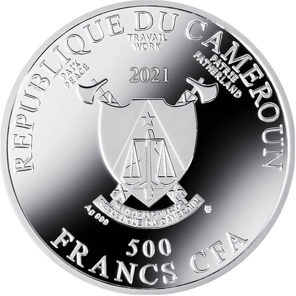 Study of the Apostle's Hands Proof Silver Coin 500 Francs CFA Cameroon 2021