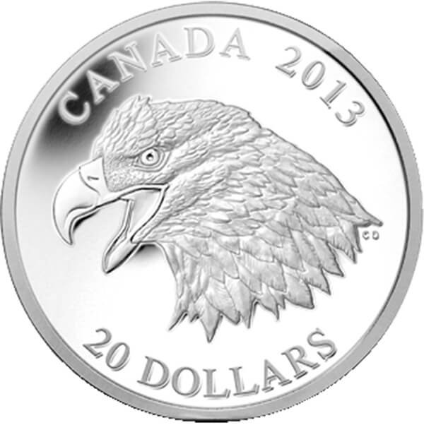 Canada 2013 20$ The Bald Eagle Proof Silver Coin