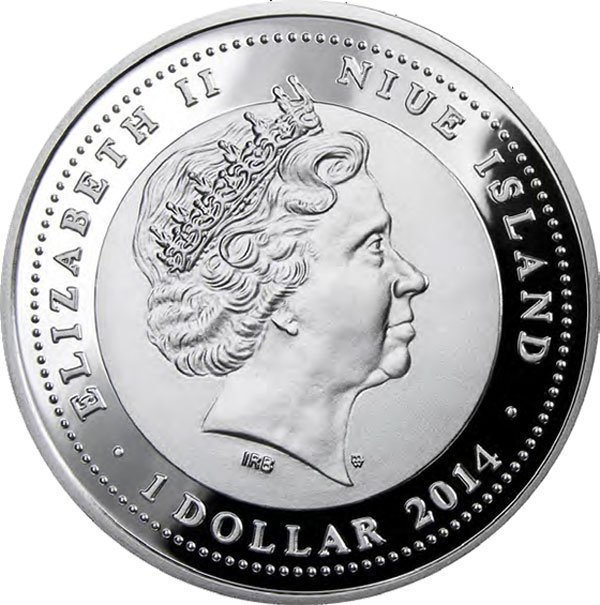 Chinese Calendar   Year of the Horse  Proof Silver Coin 1$ Niue 2014