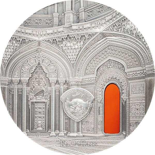 Orientalism Tiffany Art 2 oz Antique finish Silver Coin 10$ Palau 2018