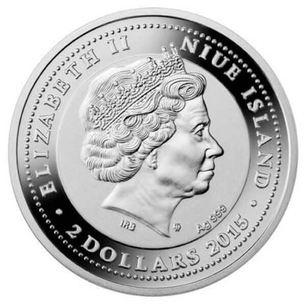 Frederic Chopin 2 oz Proof Silver Coin 2$ Niue 2015