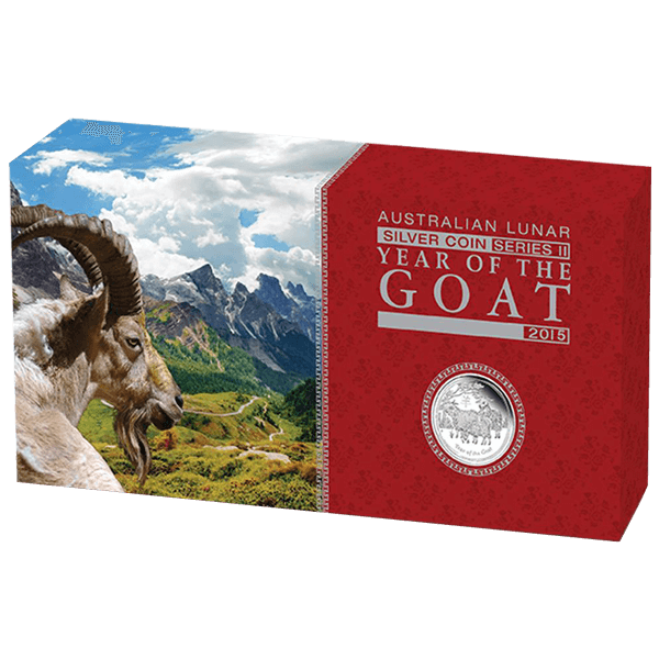 Australia 2015 3.5$  Year of the Goat Australian Lunar Series II 2015 Three-Coin Set