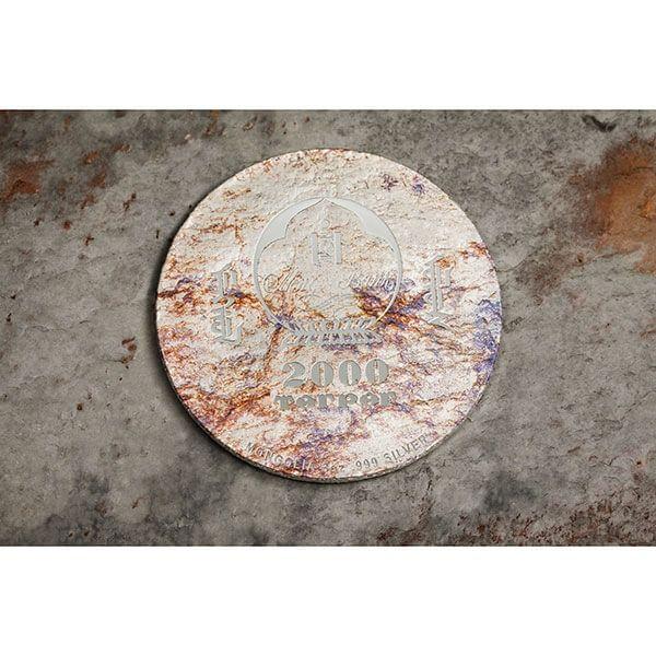 Protoceratops andrewsi Prehistoric Beasts 3 oz Proof Silver Coin 2000 togrog Mongolia 2019