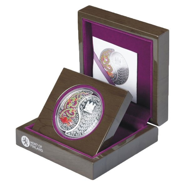 Fiji 2013 2$ Snake Yin and Yang Proof Silver Coin