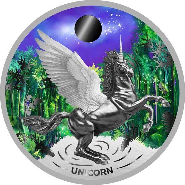 Unicorn 32.9 g Proof Silver Coin 2$ Niue 2020