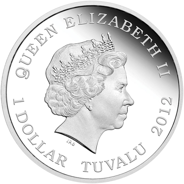 Polar Bear Wildlife in Need Proof Silver Coin 1$ Tuvalu 2012