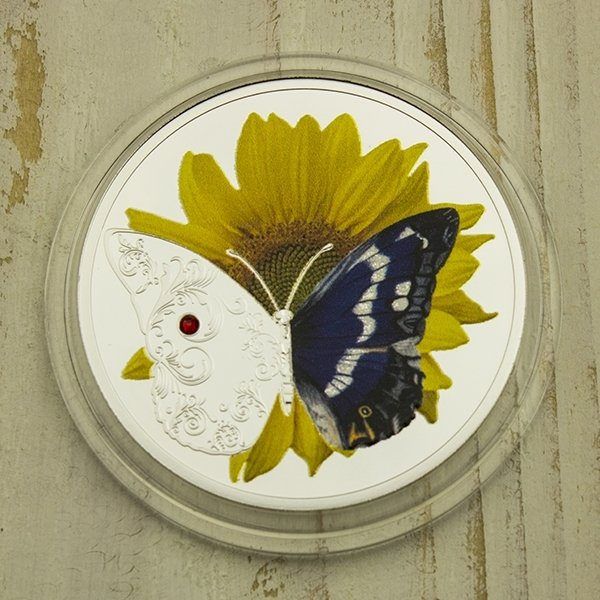 Sunflower The Most Beautiful Masterpieces of God Proof Silver Coin 1$ Niue 2019