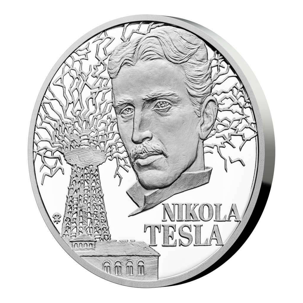 Nikola Tesla Century Geniuses 1 oz Proof Silver Coin 1$ Niue 2020