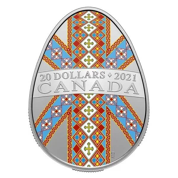 Traditional Pysanka  31.82 g Proof Silver Coin 20$ Canada 2021