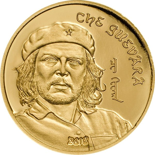 Che Guevara 0.5g Proof Gold Coin Mongolia 2018 1000 togrog