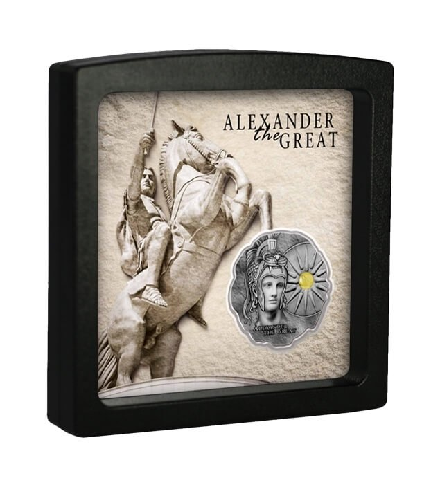 Alexander the Great Antique Finish Silver Coin 500 Francs Cameroon 2020