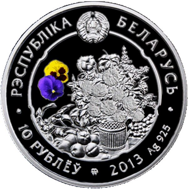 Belarus 2013 10 rubles Crocus Proof Silver Coin