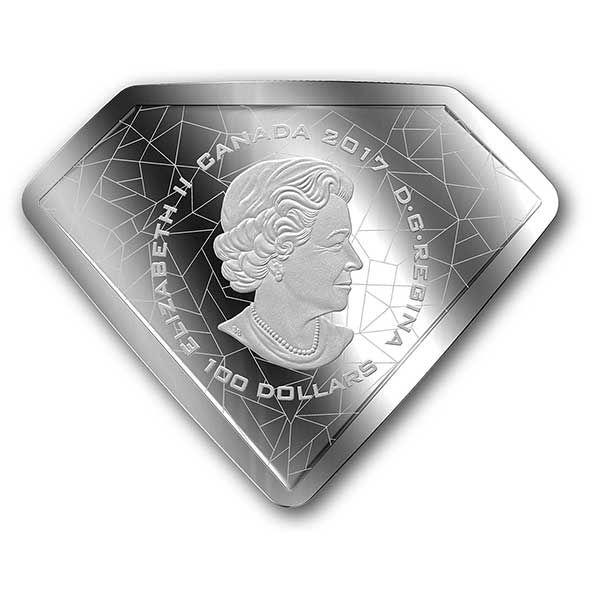 DC Comics Originals - Superman's Shield Proof Silver Coin 100$ Canada 2017