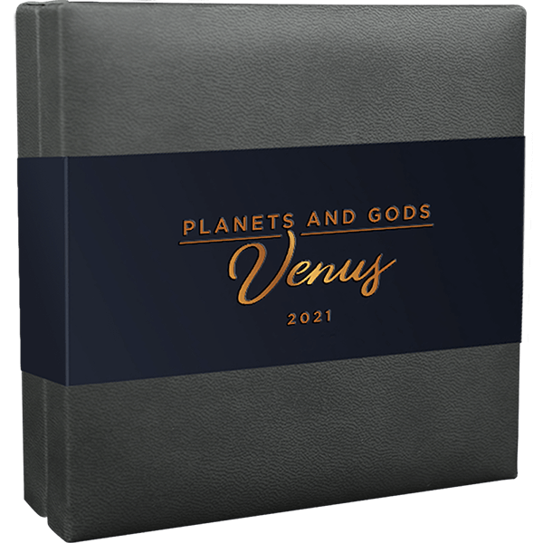 Venus Planets and Gods 3 oz Antique finish Silver Coin 3000 Francs CFA Cameroon 2021