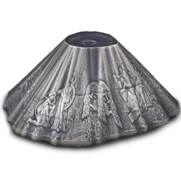 Mount Shape Vesuvius Volcano 6oz Antique finish Silver Coin 30$ Niue 2016