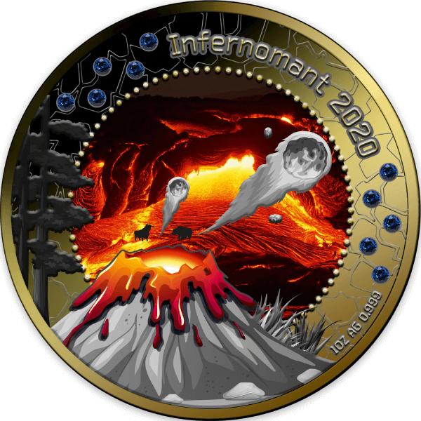 Infernomant 2020 Treasures of the Blue Planet 1 oz BU Silver Coin 5 Cedis Republic of Ghana 2020