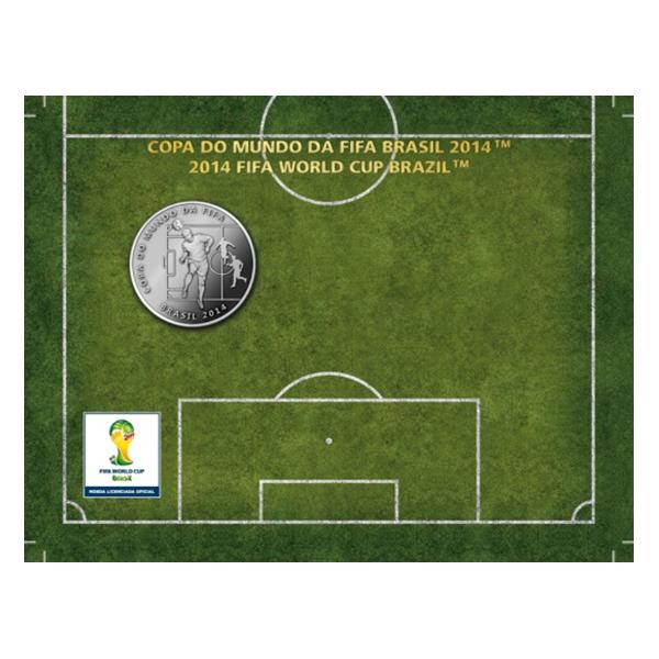 Brazil 2014 2 Reais - Head 2014 FIFA WORLD CUP Brazil Cu/Ni  Coin