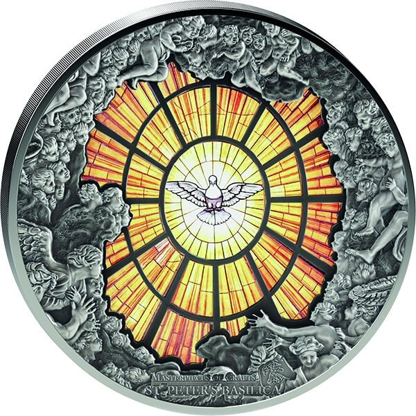 Cook Islands 2016 40$ Alabaster Window St. Peter´s Cathedral - Giant Windows of Heaven 10 oz Proof-Like Silver Coin