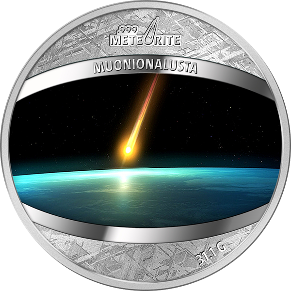 Muonionalusta Meteorite 1 oz Proof Pure Meteorite Coin 1$ Niue 2016