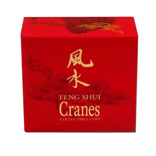 Niue 2013 2$ Feng Shui - Cranes Proof Silver Coin