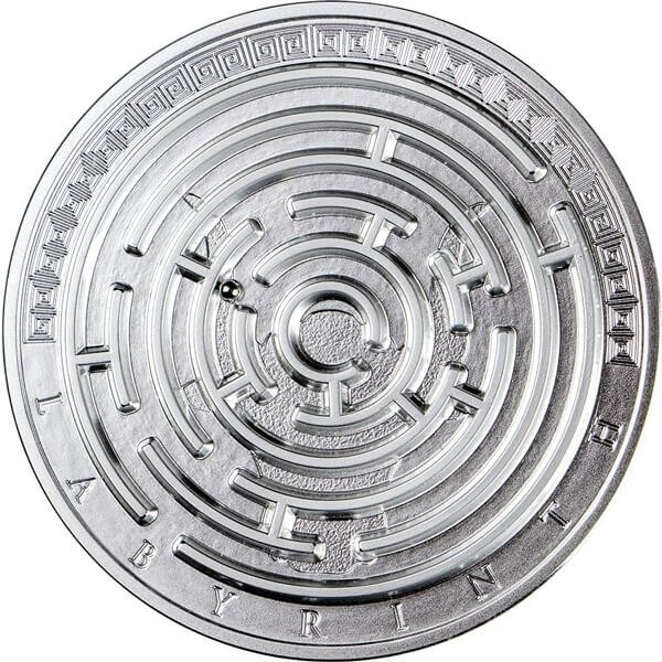 Labyrinth 3 oz Proof Silver Coin 3000 Francs CFA Cameroon 2019