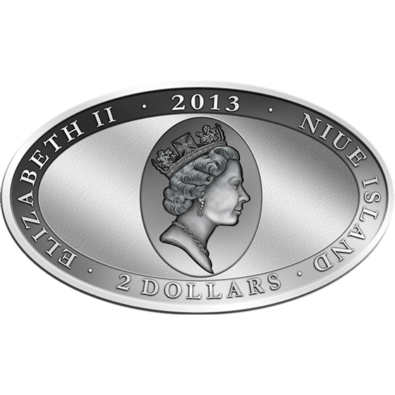 Niue 2013 2$  Croceye - XL-Ultra-Photo-Relief Ag Proof Silver Coin