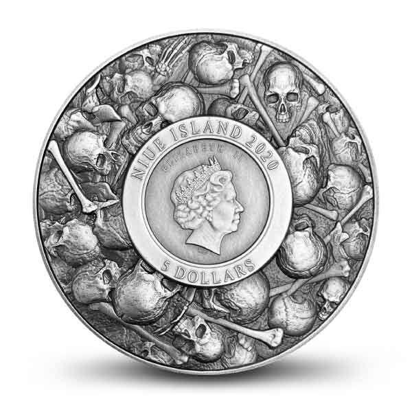 Dracula Vlad The Impaler 11,5 oz Copper & 2 oz Antique finish Silver Coin 5$ Niue 2020