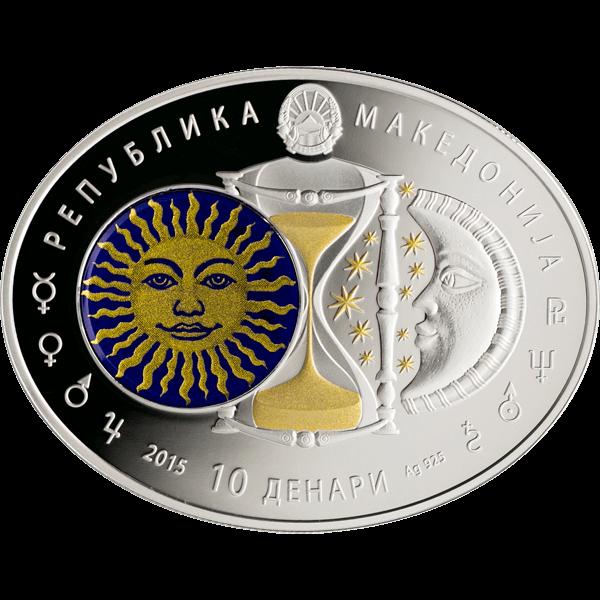 Macedonia 2014 10 Denars Taurus Signs of the Zodiac Proof Silver Coin