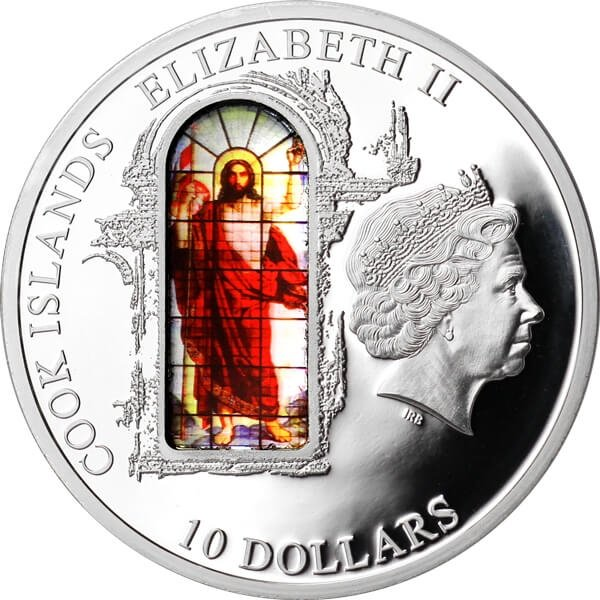 St. Isaac`s Cathedral Windows Of Heaven Proof Silver Coin 10$ Cook Islands 2012