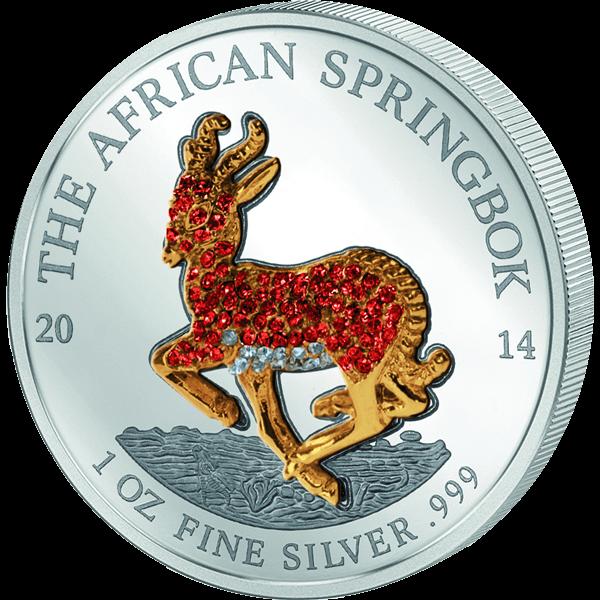Gabon 2014 4 x 1000 Franks CFA  Pave coin set African Springbok Proof Silver Coin