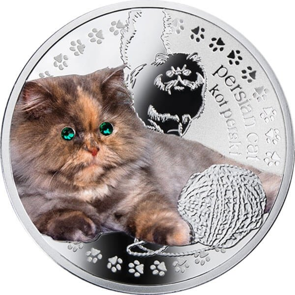 Persian Cat Man's Best Friends – Cats Proof Silver Coin 1$ Niue 2014