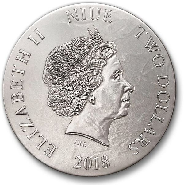Cassandra Dark Beauties 50g Antique Finish Silver Coin 2$ Niue 2018