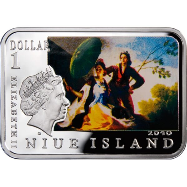 Francisco Goya Painters of the World Proof Silver Coin 1$ Niue 2010
